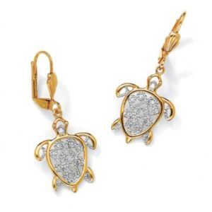 Filigree Turtle Pierced Earrings