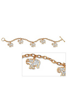 Filigree Elephant Charm Bracelet by PalmBeach Jewelry