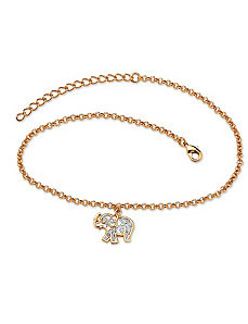Filigree Elephant Ankle Bracelet by PalmBeach Jewelry