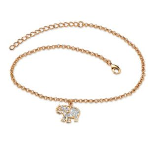Filigree Elephant Ankle Bracelet