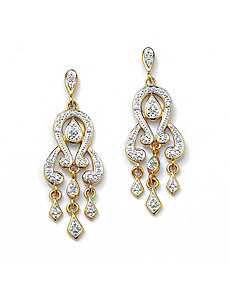 Diamond Accent Chandelier Earrings by PalmBeach Jewelry
