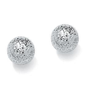 Diamond-Cut Stud Pierced Earrings