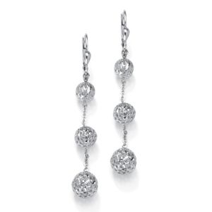 Diamond-Cut Chain Drop Earrings
