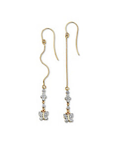 Diamond Accent Butterfly Earrings by PalmBeach Jewelry