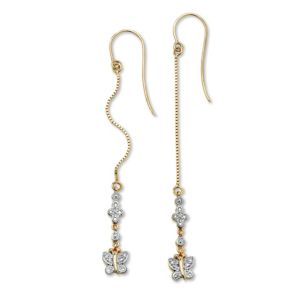 Diamond Accent Butterfly Earrings