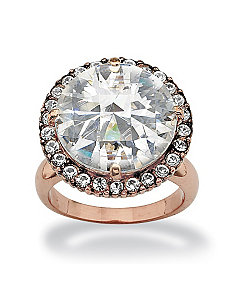 Round Cubic Zirconia Ring by PalmBeach Jewelry