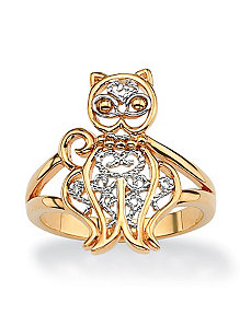 Filigree Cat Ring by PalmBeach Jewelry