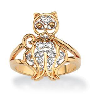 Filigree Cat Ring
