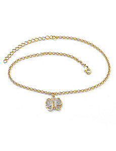 Filigree Butterfly Ankle Bracelet by PalmBeach Jewelry