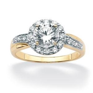 Round Multi-Cubic Zirconia Ring