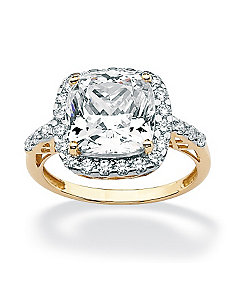 Cushion & Round Cubic Zirconia Ring by PalmBeach Jewelry