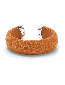 Orange Stingray Cuff Bracelet by PalmBeach Jewelry