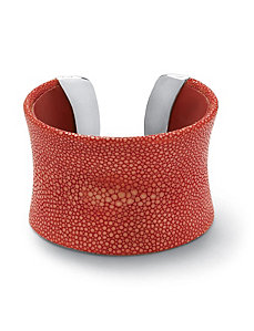 Red Stingray Concave Cuff Bracelet by PalmBeach Jewelry