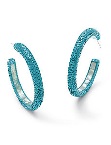 Stingray & Mother-of-Pearl Hoops by PalmBeach Jewelry
