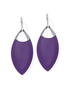 Purple Stingray Pierced Earrings by PalmBeach Jewelry