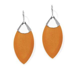 Orange Stingray Pierced Earrings