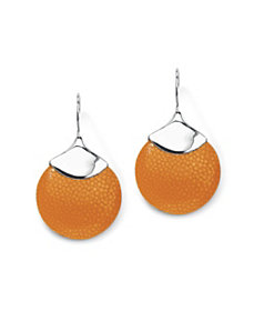 Tangerine-Colored Stingray Earrings by PalmBeach Jewelry