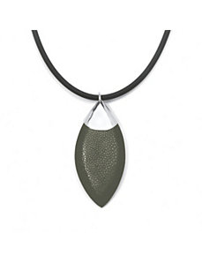 Black Stingray Silvertone Pendant by PalmBeach Jewelry