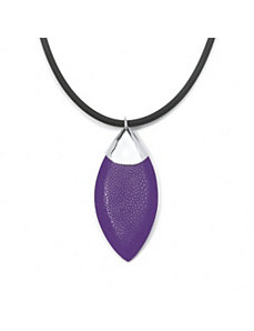 Purple Stingray Silvertone Pendant by PalmBeach Jewelry