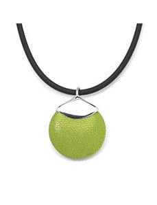 Green Stingray Silvertone Pendant by PalmBeach Jewelry
