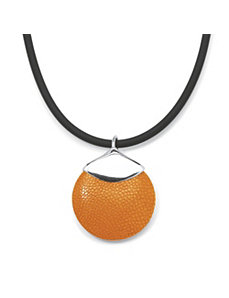 Orange Stingray Silvertone Pendant by PalmBeach Jewelry