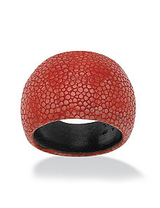 Red Dome-Shaped Red Stingray Ring by PalmBeach Jewelry