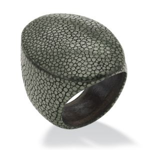 Oval-Shaped Stingray Ring