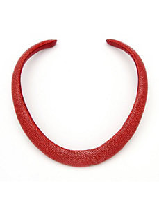 Red Stingray Choker-Necklace by PalmBeach Jewelry