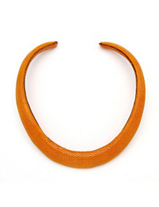 Orange Stingray Choker-Necklace by PalmBeach Jewelry