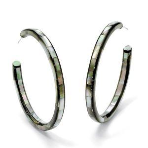 Mother-of-Pearl Hoop Earrings