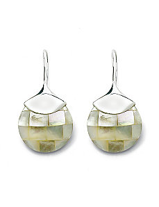 Mother-of-Pearl Drop Earrings by PalmBeach Jewelry