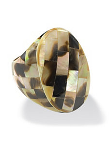 Oval-Shaped Mother-of-Pearl Ring by PalmBeach Jewelry