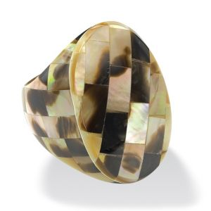 Oval-Shaped Mother-of-Pearl Ring