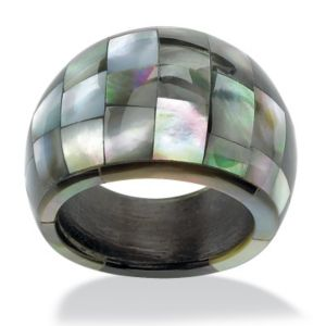 Dome-Shaped Mother-of-Pearl Ring
