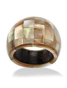 Dome-Shaped Mother-of-Pearl Ring by PalmBeach Jewelry