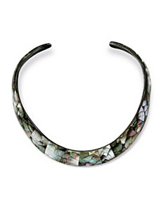 Mother-of-Pearl Choker-Necklace by PalmBeach Jewelry