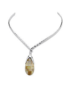 Mother-of-Pearl Pendant-Necklace by PalmBeach Jewelry