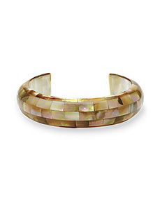 Mother-of-Pearl Cuff Bracelet by PalmBeach Jewelry