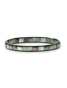 Mother-of-Pearl Bangle Bracelet by PalmBeach Jewelry