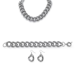 3-Piece Curb-Link Chain Set
