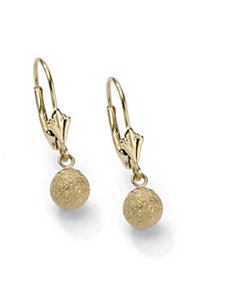 Diamond-Cut Ball Drop Earrings by PalmBeach Jewelry