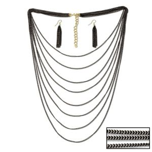Multi-Chain Necklace & Earring Set