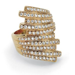 Multi-Row Cubic Zirconia Bypass Ring