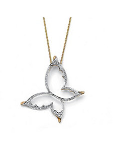 Diamond Accent Butterfly Pendant by PalmBeach Jewelry