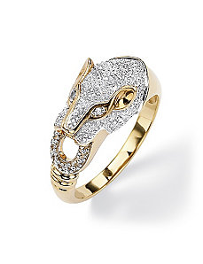Diamond Accent Panther Ring by PalmBeach Jewelry