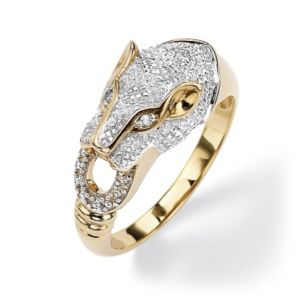 Diamond Accent Panther Ring