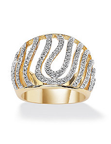 Diamond Accent Swirled Dome Ring by PalmBeach Jewelry