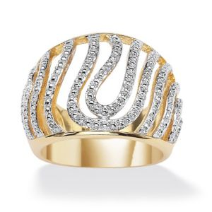 Diamond Accent Swirled Dome Ring