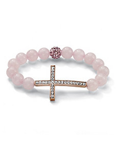 Horizontal Cross Pink Bracelet by PalmBeach Jewelry