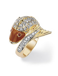 Cubic Zirconia Fish Ring by PalmBeach Jewelry
